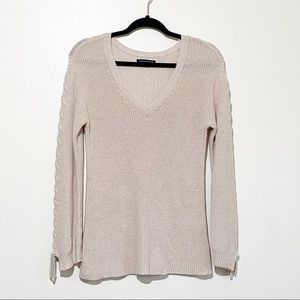 American Eagle cable knit v-neck sweater